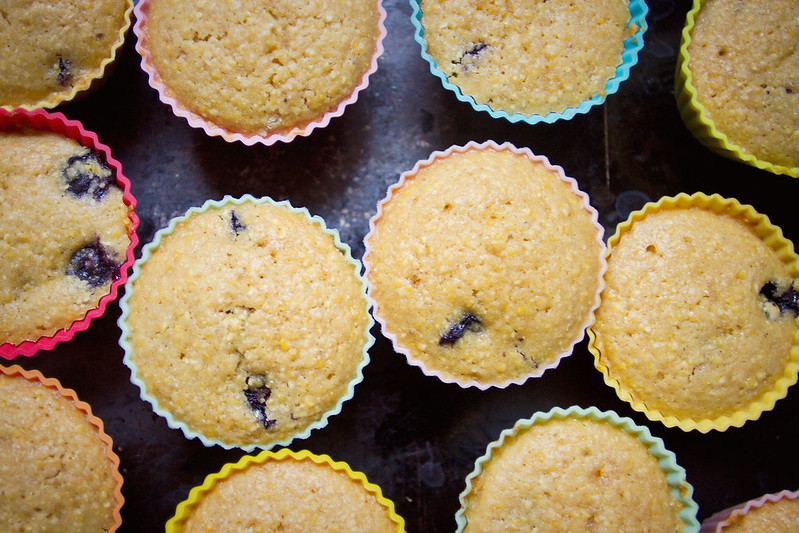 Little Market Kitchen: Orange Blueberry Corn muffins