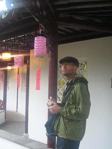 man and lantern
