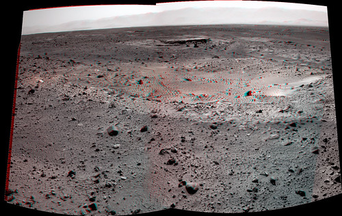 Curiosity sol 429 NavCam right anaglyph detail