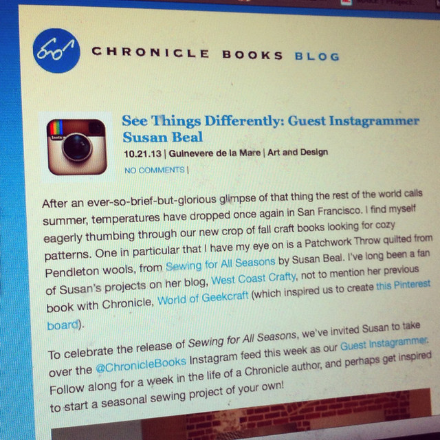 I'm the Guest Instagrammer for Chronicle Books!