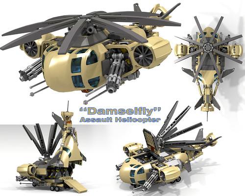 """Damselfly"" Assault Helicopter (Десантный вертолет ""Стрекоза"")"