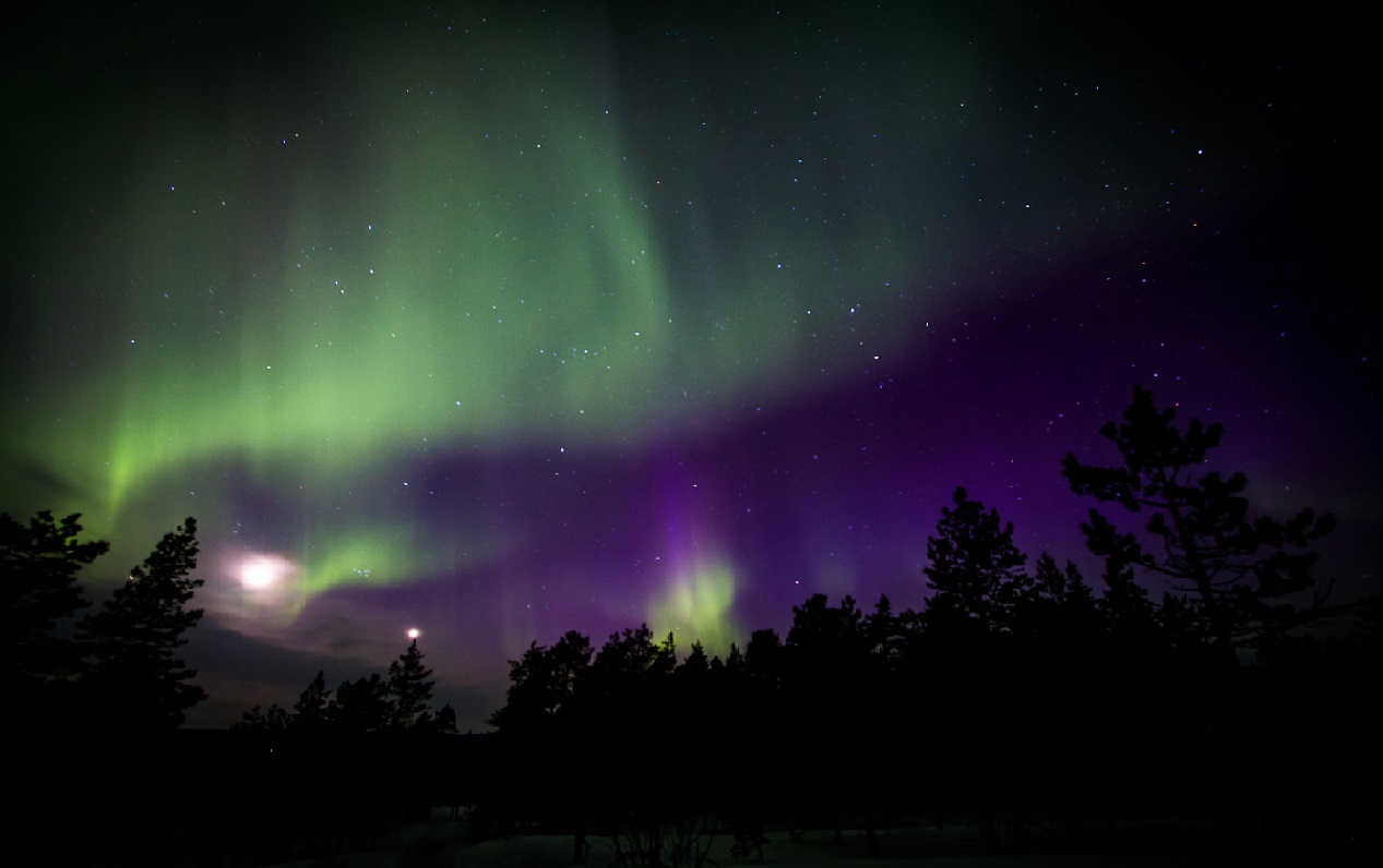 6. Aurora boreal. Imagen tomada en la Laponia sueca. Autor, Travel in shots