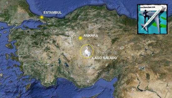 Detalle de Turquía y el perfectamente visible lago en el centro en google maps Tuz Gölü, el lago salado de Turquía - 10515901426 bee6fdbf6b o - Tuz Gölü, el lago salado de Turquía