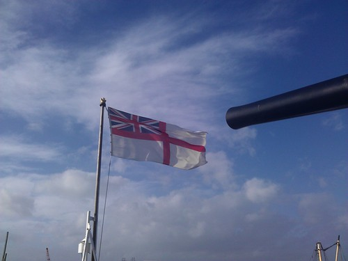 Cannon and flag - Chatham Historic Dockyard