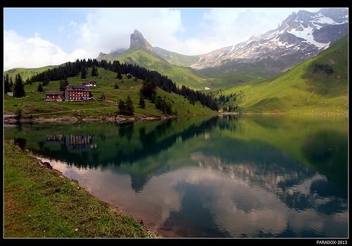 View of lake Bannalpsee
