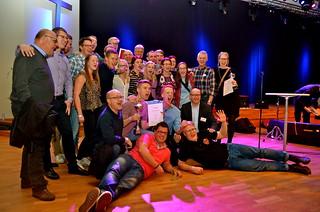 Brassbandfestivalen 2013 - Åsenhöga Missionskyrkas Brass Band. Seger i division 1 (Foto: Olof Forsberg)
