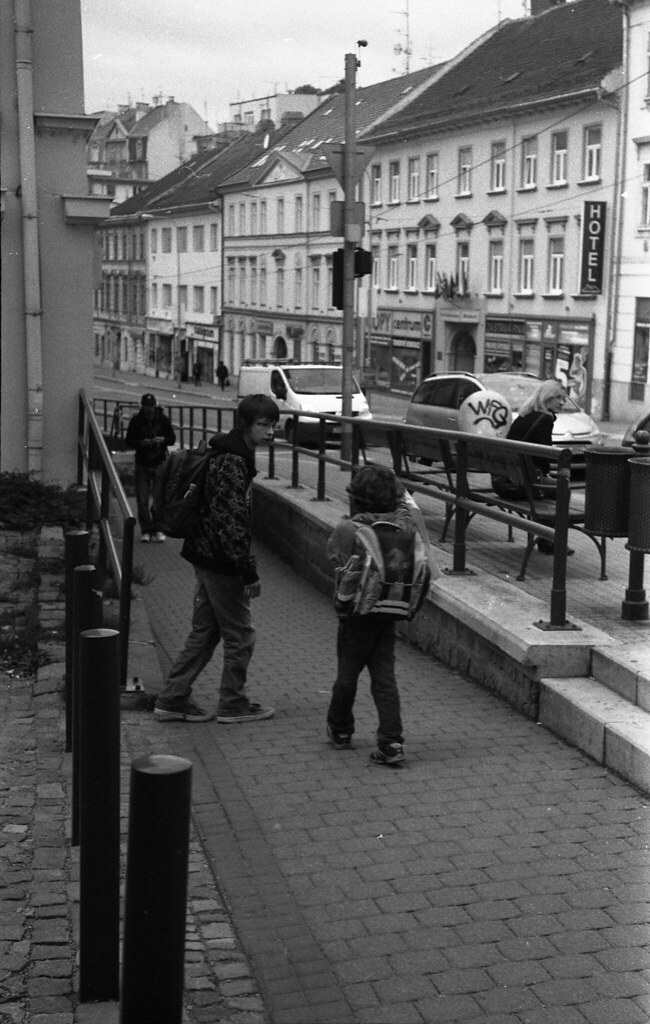Kiev 4 - New Scan - Boys on Sidewalk