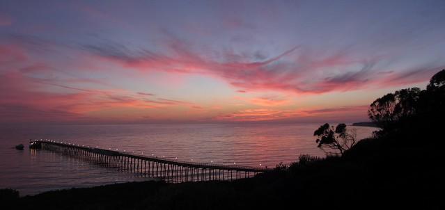 IMG_4709 bacara sunset over venoco pier goleta_2 ICE rm stitch99 sbau