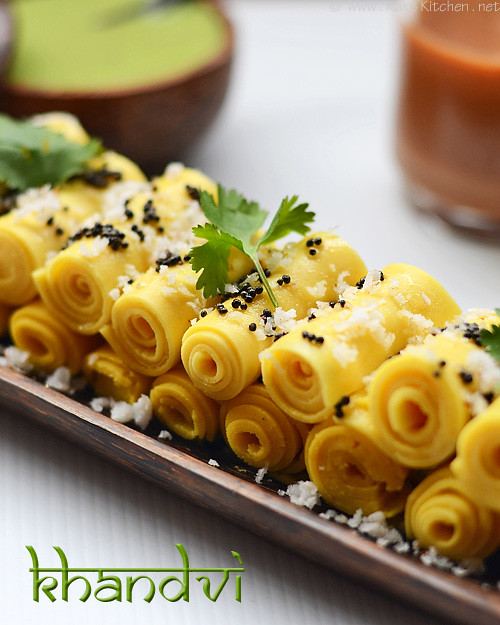 Khandvi recipe how to make khandvi raks kitchen khandvi recipe 1 forumfinder Image collections