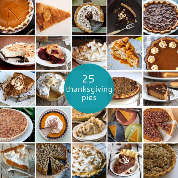 25 Thanksgiving Pie Recipes on completelydelicious.com