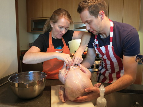 Thanksgiving prep - turkey's up