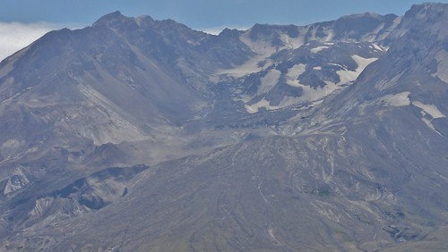 View of Mount St. Helens's gigantic crater and lava dome. If you look veryvery closely, you'll see a helicopter for scale.