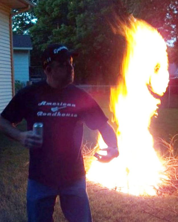 The perfectly timed smilin' fire picture: