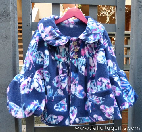 Butterfly fleece jacket