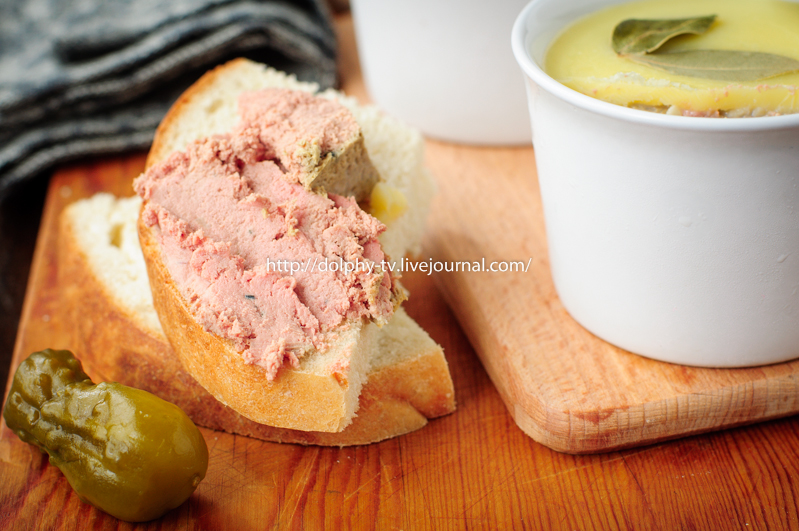 Baked Chicken Liver Pate on Toast