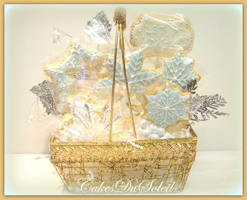 Snowflake Cookie Basket