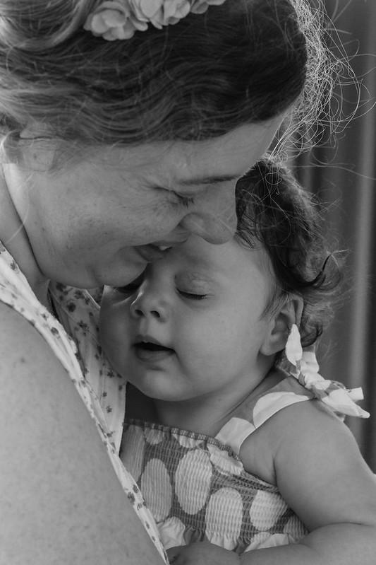 mother & daughter cuddling