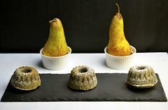 Pear and poppyseed mini Bundt cakes