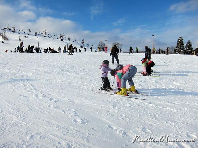 Teaching my daughter skiing