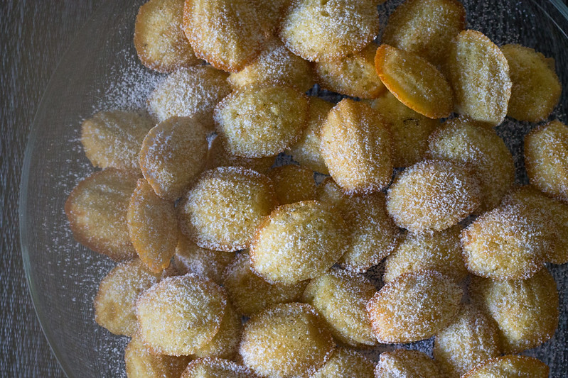 vanilla bean madeleines. | noms and notes