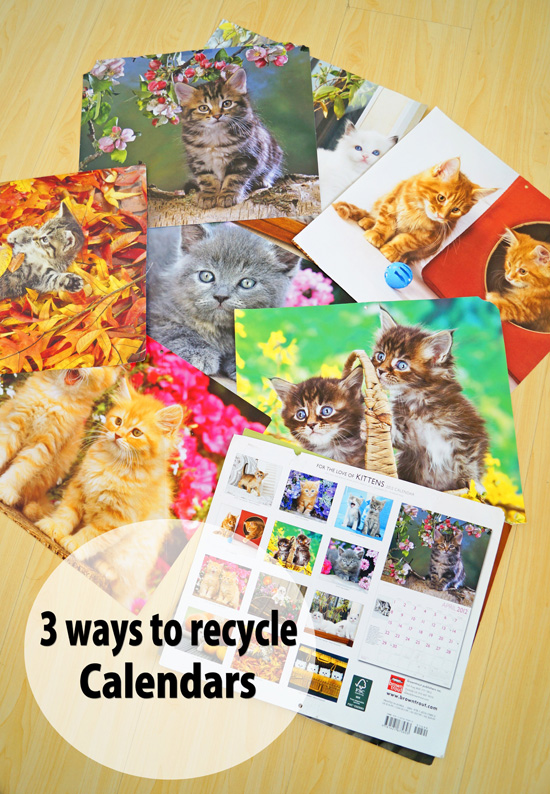 How to recycle calendars