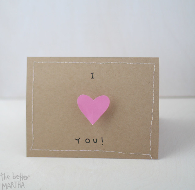 I heart your valentine card