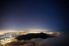 Starry night at Lantau Peak