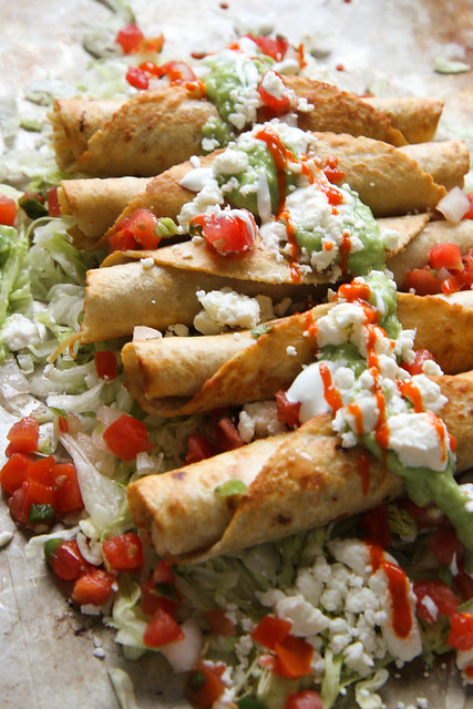 Chicken Toquitos with Spicy Avocado Sauce - Heather Christo