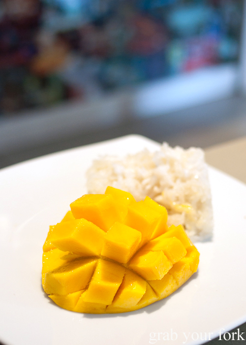 Sticky rice with mango at Rim Tanon Haymarket Chinatown