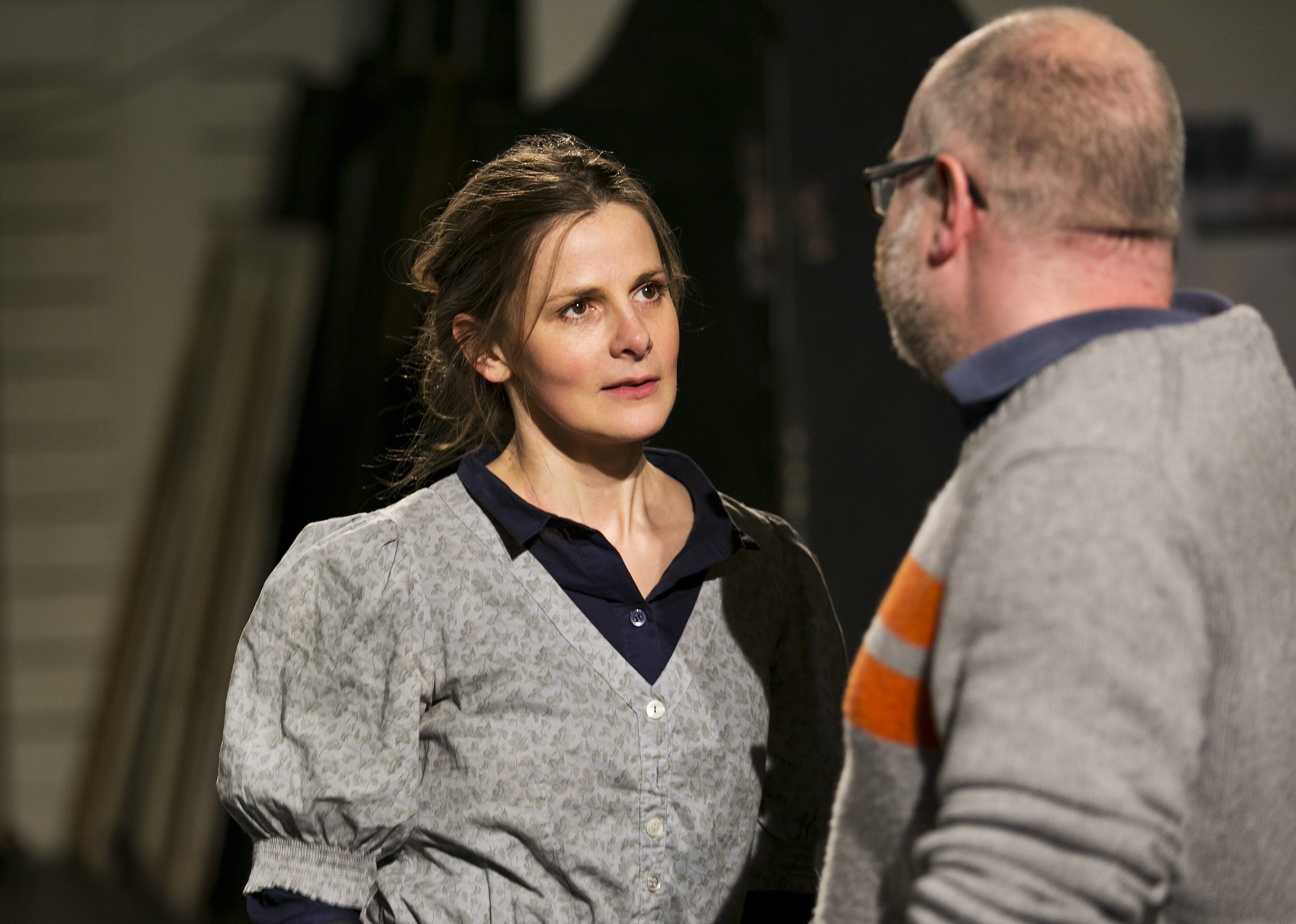 5 Louise Brealey as Miss Julie with director Dominic Hill  c. Eoin Carey