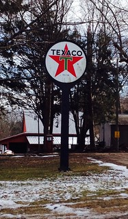Vintage Texaco sign, Lebanon, CT
