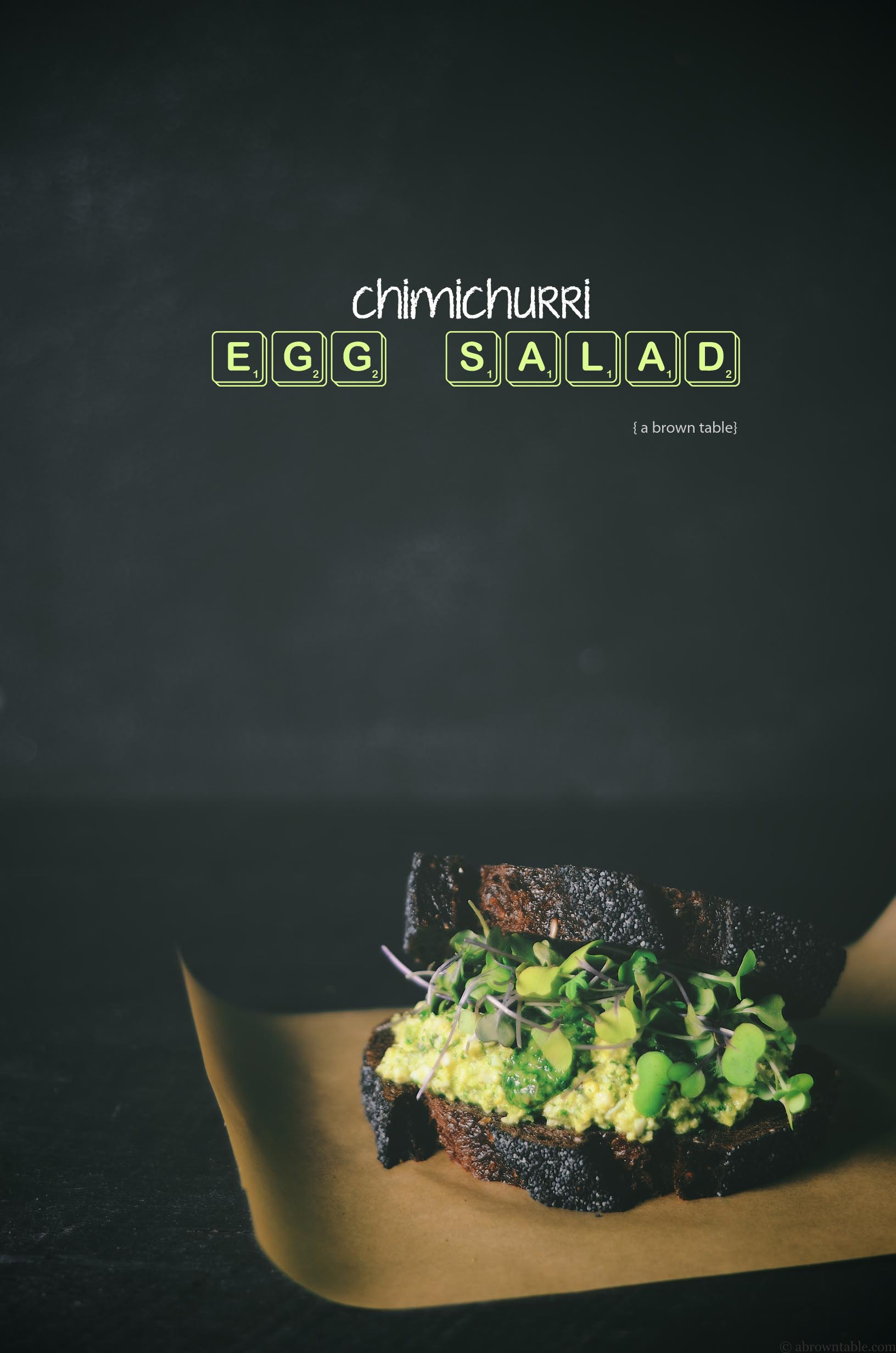 chimichurri egg salad