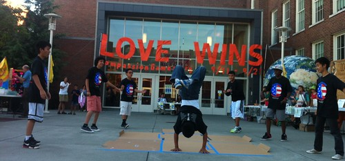 Cropped Love Wins Breakdance