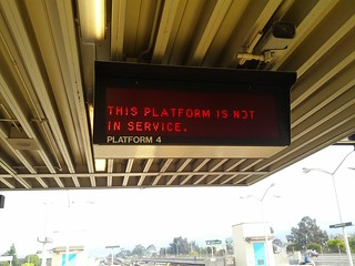 This platform is not in service