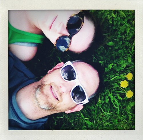 Laying in a field of grass on a sunny Saturday