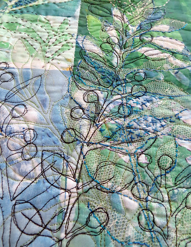 blue leaf bramble ~ detail