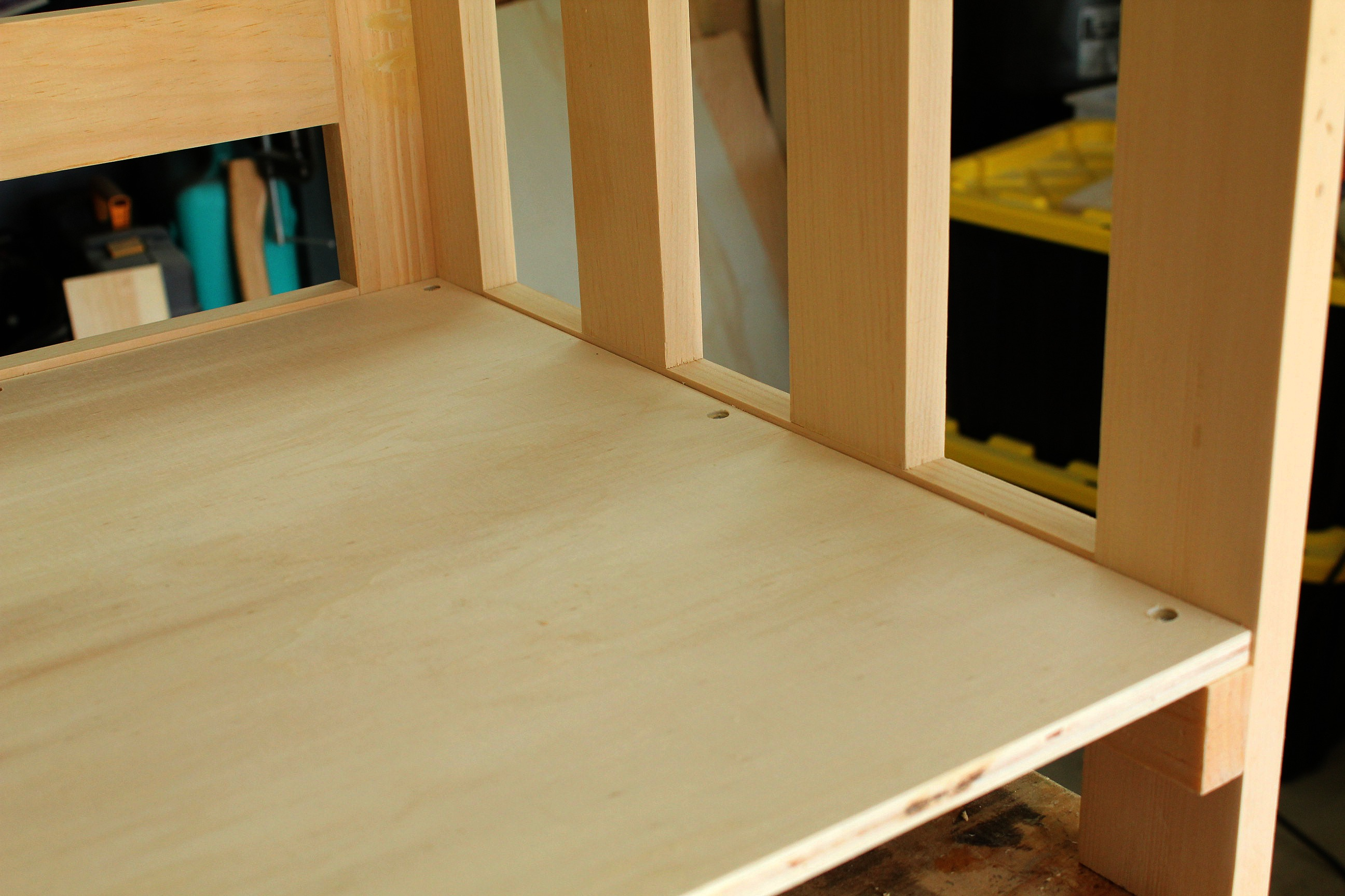 DIY Bookcase Toybox Wood