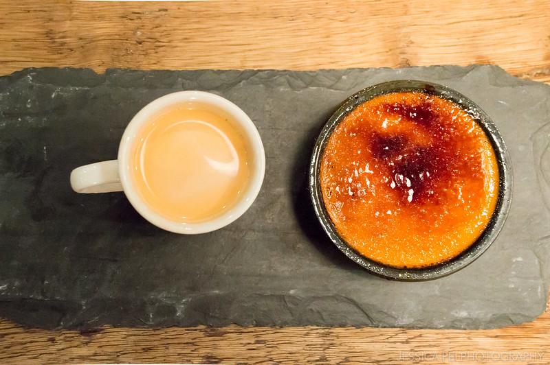 Creme brulee with Thai tea