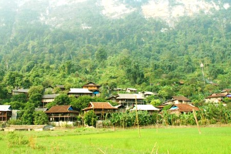 Pac Ngoi Village村落一景    photo credit The B-Tourist