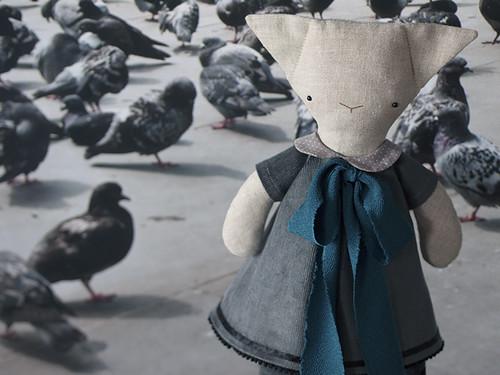 Livia the Pigeon Appreciation Day rag-cat