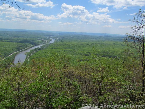 View from the top of Mount Minsi, Delaware Water Gap National Recreation Area, Pennsylvania
