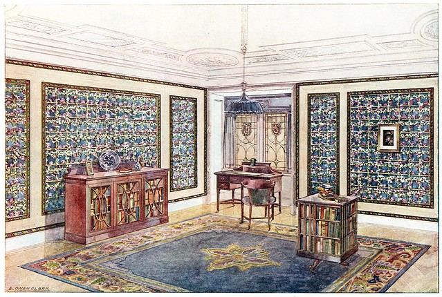 20th century wallpaper room decoration)