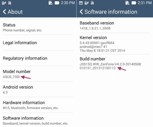 Numero Build Zenfone