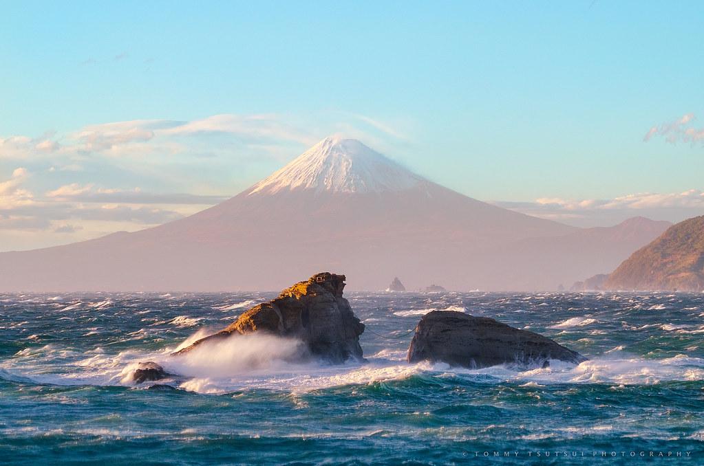 Rough Sea and Mt Fuji - II [Explore]