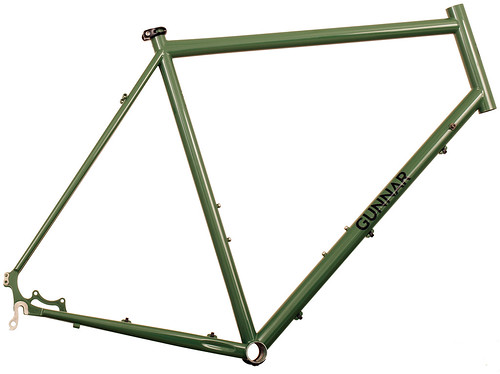 <p>Gunnar Fastlane in Monetary Green, with the versatility for commuting, distance riding, touring, cruising about town and even cyclocross.</p>