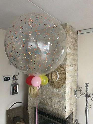 Cloudbuster Rond Transparant Confetti Ballon