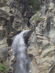 Greg high above the waterfall Image