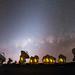 Milky Way setting above ALMA by Wei-Hao Wang