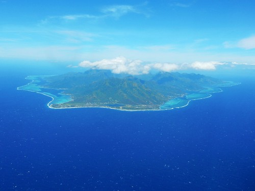 Huahine from the air - French Polynesia