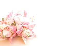 4 tulip flower origami napkins